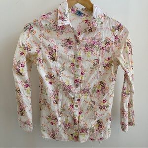 Floral Western Button Up Blouse